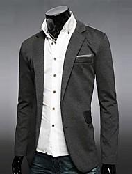 Men's Long Sleeve Regular Blazer , Cotton Blend Pure