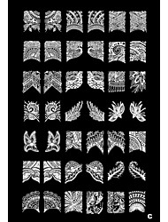 1PCS 42 Plant Pattern Nail Art Stamp Stamping Image Template Plate C