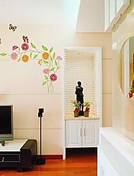 Createforlife® Cartoon Butterfly Love Flowers Kids Nursery Room Wall Sticker Wall Art Decals