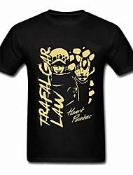 одна часть Трафальгарской закон (смерть хирург) черный& золотой хлопок короткий рукав косплей футболки