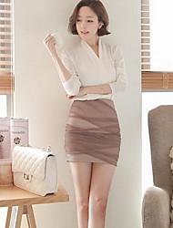 Women's Party / Sexy Dress Mini Cotton / Chiffon