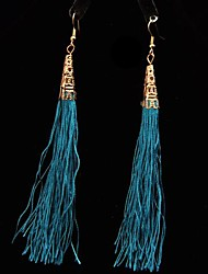 Simmias Women'sTassel de China Pendientes del viento a largo