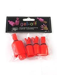 5pcs unha gel polonês remover ferramentas de arte proteção clipe de unhas de gel-off (cor aleatória)