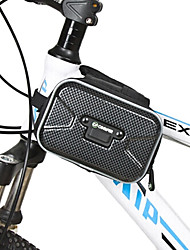 CONIFER Black Small Size ABS Bicycle Frame Bag with 4.5-5.0 Inch PVS Touchable Mobile Phone Bag