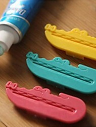 Crocodile Toothpaste Tube Squeezer Easy Press Dispenser Plastic 3 Pcs (Random Color)