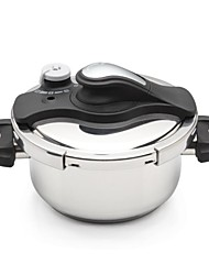 3 Layer Composite Bottom Seven Insurance 5.6QT  Capacity Pressure Cooker 304 Stainless Steel 24cm*24cm*12.2cm