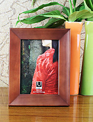 "4 "" x 6 "" Simple Style Wood Pattern Picture Frame"