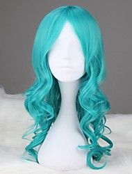 Sailor Moon Sailor Neptunus lang krullend synthetische Anime Cosplay Pruik