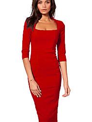 Мол женщин твердое платье цвета Bodycon
