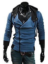 Nono Kapuzen schräge Reißverschluss Cardigan Hoodie (blau)