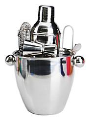 Zilverwit roestvrij staal wijn Gereedschap, set van 7, L13cm x W13cm x x16cm