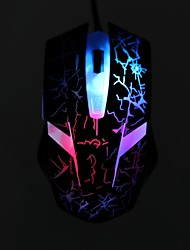 Robot Lightning Model's Colourful Breathing Lamp 1600DPI 6 Button Optical USB Wired Gaming Mouse