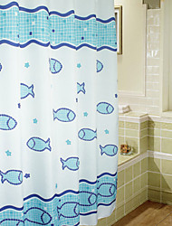 Cute Cartoon Swimming Fish Shower Curtain