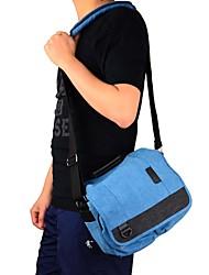 DSTE blue Cowboy Canvas One Shoulder Bag for Canon / Nikon / Sony / Samsung / Fuji / Pentax / Panasonic DSLR