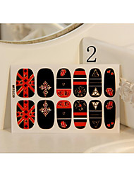 Japanese Style 3D Long Nail Tips Metallic Nails Stickers Tattoo