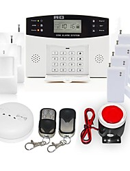 106 Zone Home Security GSM Burglar Alarm System with Smoke Alarm Set