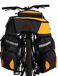 acacia 800d polyester gris + jaune trois dans une sacoche de vélo