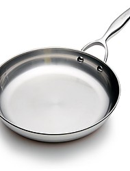 BODEUX® Solid Material Hardness Royal Skillets 24cm 304 Stainless Steel 43cm*24cm*5cm