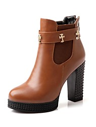 Women's Chunky Heel Platform Round Toe Booties/Ankle Boots (More Colors)