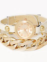 osent u femmes chaînes d'unité centrale de montres bracelet en cuir