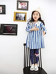 Girl's Fashion Joker Cartoon Colored Points Leggings
