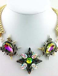 Women's Retro Gem Necklace