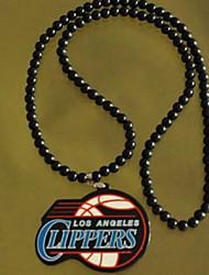 clippers moda agradável nba pingente multicolor pingente acrílico colar (1 pc) (branco, preto)