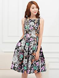 ПЗ печати талии платье