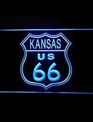 Route 66 US Kansas Advertising LED Light Sign