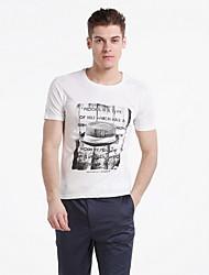 OwenWong Men's Gentry Cap T-Shirt(Screen Color)
