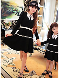 Family's Fashion Contracted  Mother Daughter Vintage Temperament Dress