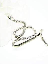 Z&X® персональную преувеличенное ретро змея рисунок ладони браслет (больше цветов)
