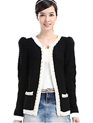 Frauen New Fashion Strickjacke Rivet Perlen Pullover