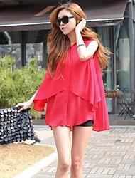 YiFanYiGui™ Women's Sexy Casual Irregular Double Chiffon Pleated Sleeveless Shirt