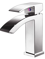 Chrome Finished Hot and Cold Water Basin Faucet Mixer,Sinlge Handle Tap-2002