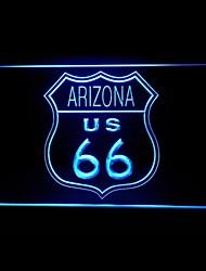 Маршрут 66 США Аризона Реклама светодиодные Вход