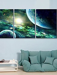 Toiles d'art The Mysterious Sky Lot de 3