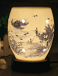 Chinese Style Watertown Pattern Electric Fragrance Desk Lamp with Dimmer