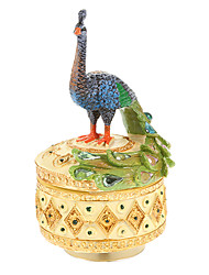 Elegant Peacock Pattern Music Box Toys