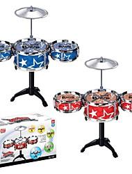 High Quality Safety Materialer Educational Toys Musical Instrument Trommesett Leker satt (Rød, Blå)