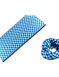 BOODUN Blue Plaids Multi-Functional Seamless Polyester Spandex Magic Scarf Headband