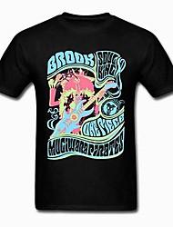 One Piece Brook The Guitar Hero Black Cotton Cosplay T-Shirt