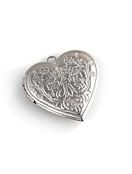 Heart-shaped Metal Pattern Photo Frame Pendant (1 Pc)
