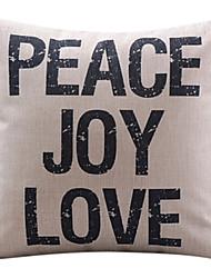 мир радость любовь хлопок / лен декоративные подушки крышки