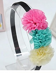 Girl's Korean Fashion Style Big Flower Headband(Random color)