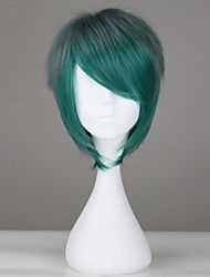 Green with Grey Short Straight Harajuku Style Synthetic Sweet Lolita Wig