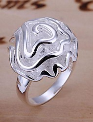Lucky Doll Women's 925 Silver 3D Rose Ring