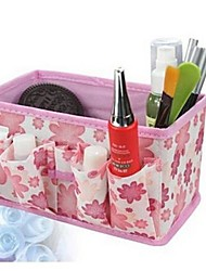 18*15*10CM Non-Woven Fabrics Polka Dot Thickening Desktop Cosmetics Storage Box