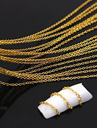 10Meters Golden Plated Metal Line Chain 3D Alloy Nail Art Decoration
