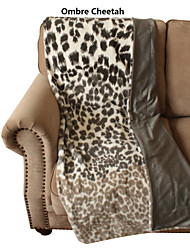 "Animal Print 50""x60"" Faux Fur Throw"